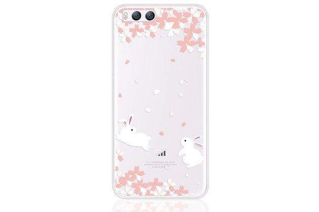 """Ультра-тонкая полимерная из мягкого качественного силикона задняя панель-чехол-накладка для xiaomi mi 6 с изображением """"кролики"""""""