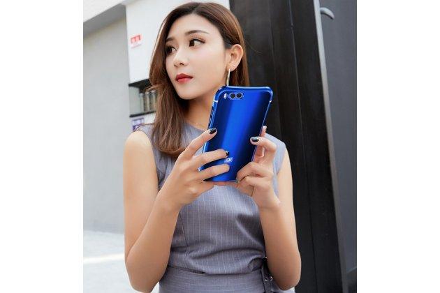 Металлическая задняя панель-крышка-накладка из тончайшего облегченного авиационного алюминия для xiaomi mi 6 синяя
