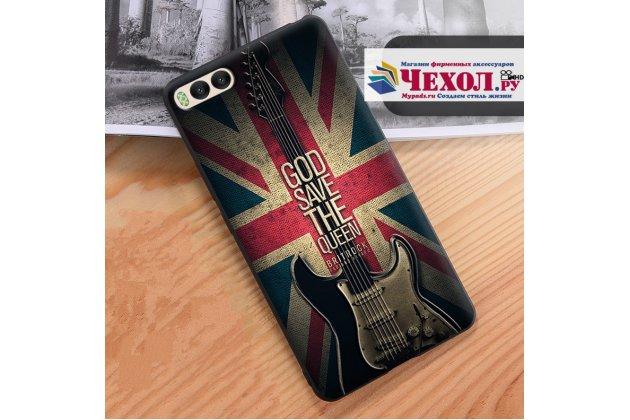 """Уникальная задняя панель-крышка-накладка из тончайшего силикона для xiaomi mi 6 с объёмным 3d рисунком """"британский флаг"""""""