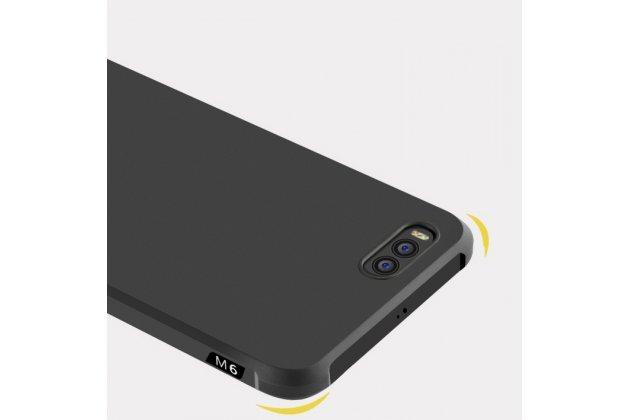 Ультра-тонкая полимерная из мягкого качественного силикона задняя панель-чехол-накладка для xiaomi mi 6 черная