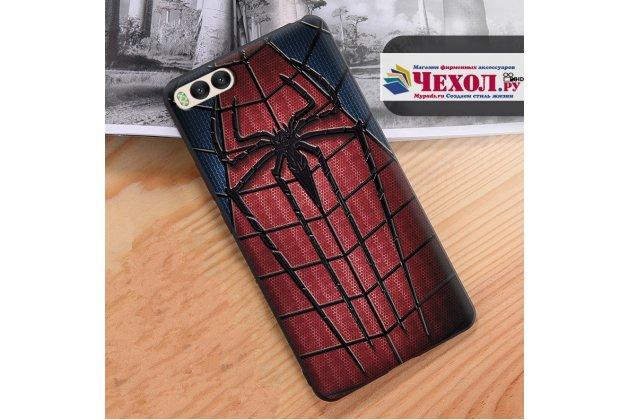 """Уникальная задняя панель-крышка-накладка из тончайшего силикона для xiaomi mi 6 с объёмным 3d рисунком """"человек-паук"""""""
