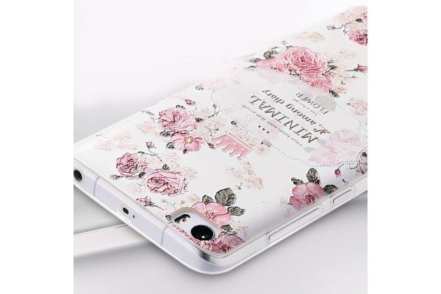 """Роскошная задняя панель-чехол-накладка из мягкого силикона с объемным  3d изображением  на xiaomi mi 6 с безумно красивым рисунком """"розочки"""""""
