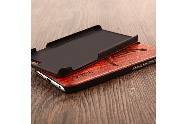 """Деревянная из натурального бамбука задняя панель-крышка-накладка для xiaomi mi 6 с изображением """"узоры"""""""