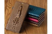 Роскошный эксклюзивный чехол с объёмным 3d изображением кожи крокодила коричневый для xiaomi mi 5x/xiaomi mi a1 . только в нашем магазине. количество ограничено