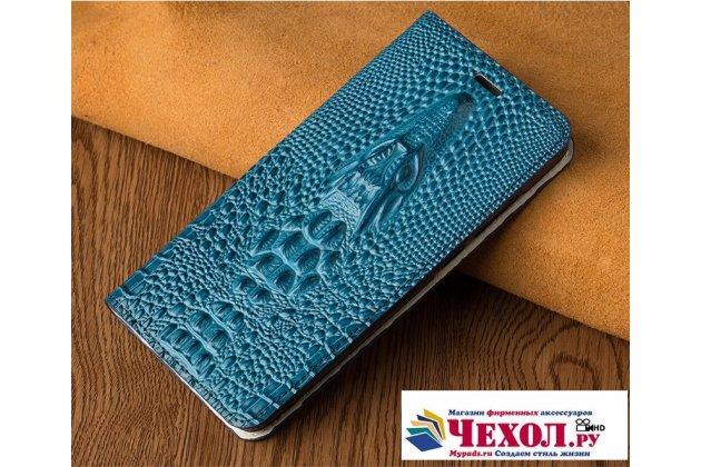 Роскошный эксклюзивный чехол с объёмным 3d изображением кожи крокодила синий для xiaomi mi 5x/xiaomi mi a1  только в нашем магазине. количество ограничено