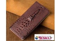 Роскошный эксклюзивный чехол с объёмным 3d изображением кожи крокодила цвет красное вино для xiaomi mi 5x/xiaomi mi a1  только в нашем магазине. количество ограничено