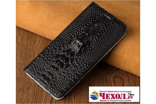 Роскошный эксклюзивный чехол с объёмным 3d изображением кожи крокодила черный для xiaomi mi 5x/xiaomi mi a1  только в нашем магазине. количество ограничено