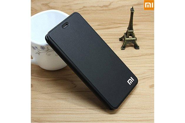 Чехол-книжка  с логотипом для xiaomi mi 5x/xiaomi mi a1 водоотталкивающий с мульти-подставкой черный