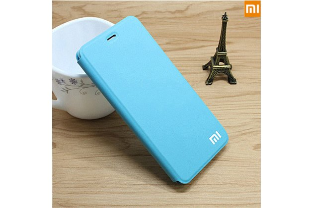 Чехол-книжка с логотипом для xiaomi mi 5x/xiaomi mi a1 водоотталкивающий с мульти-подставкой  голубой
