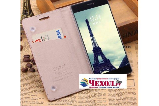 """Премиальный элитный чехол-книжка с логотипом из качественной импортной кожи с мульти-подставкой и визитницей для xiaomi mi 5s / xiaomi mi5s 5.15 """"ретро"""" розовый"""