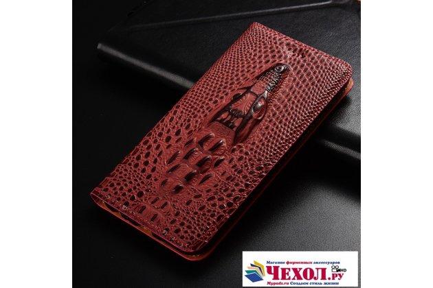 Роскошный эксклюзивный чехол с объёмным 3d изображением кожи крокодила цвет красное вино для xiaomi mi 5s / xiaomi mi5s 5.15  только в нашем магазине. количество ограничено