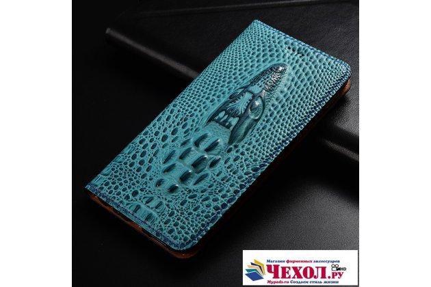 Роскошный эксклюзивный чехол с объёмным 3d изображением кожи крокодила синий для xiaomi mi 5s / xiaomi mi5s 5.15  только в нашем магазине. количество ограничено