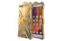 Противоударный металлический чехол-бампер из цельного куска металла с усиленной защитой углов и необычным экстремальным дизайном  для  xiaomi mi 5s / xiaomi mi5s 5.15 золотого цвета