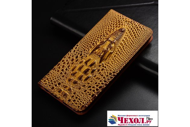 Роскошный эксклюзивный чехол с объёмным 3d изображением кожи крокодила коричневый для xiaomi mi 5s / xiaomi mi5s 5.15 . только в нашем магазине. количество ограничено