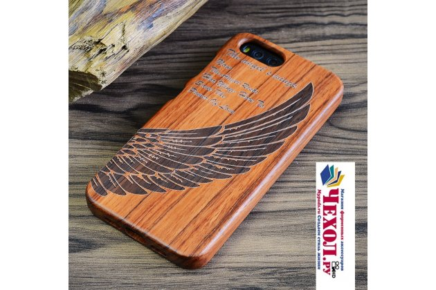 Деревянная из натурального бамбука задняя панель-крышка-накладка для xiaomi mi 5s / xiaomi mi5s 5.15 с рисунком ангел