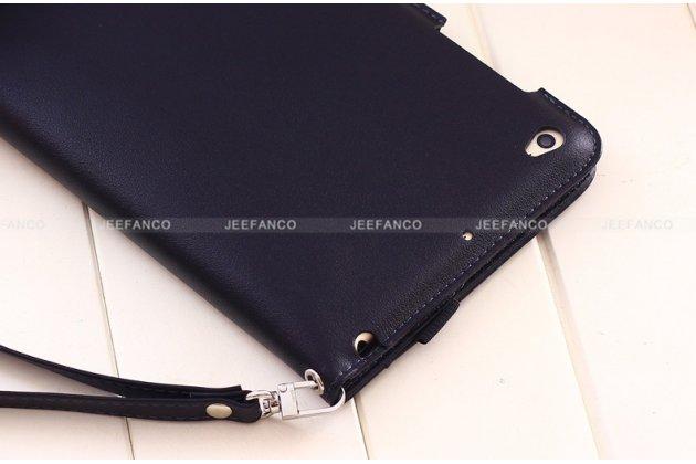 Чехол бизнес класса для xiaomi mipad 2/3 с визитницей и держателем для руки черный натуральная кожа prestige италия
