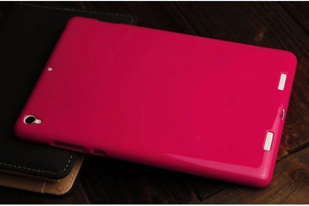 Ультра-тонкая полимерная из мягкого качественного силикона задняя панель-чехол-накладка для xiaomi mipad 7.9 розовый