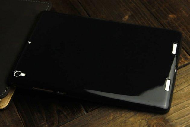 Ультра-тонкая полимерная из мягкого качественного силикона задняя панель-чехол-накладка для xiaomi mipad 2/3 черная