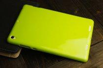Ультра-тонкая полимерная из мягкого качественного силикона задняя панель-чехол-накладка для xiaomi mipad 2/3 лимонно-жёлтая