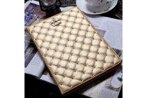 Стёганная кожа в ромбик с узором чехол-обложка для xiaomi mipad 2/3 цвет королевское золото кожаный