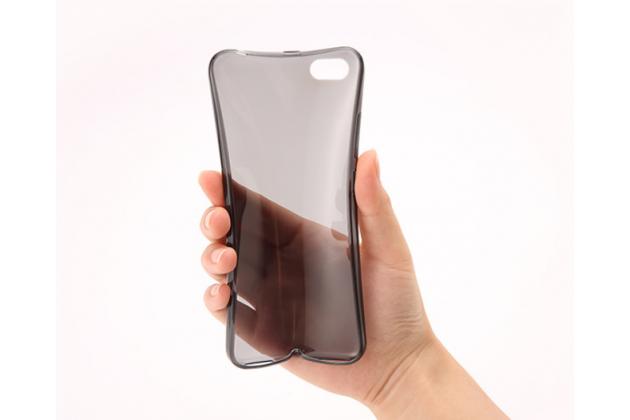 Ультра-тонкая полимерная из мягкого качественного силикона задняя панель-чехол-накладка для xiaomi redmi note 5a черная