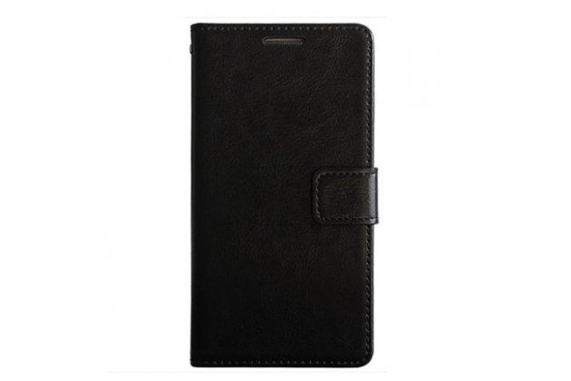 Чехол-книжка из качественной импортной кожи с подставкой застёжкой и визитницей для xiaomi redmi note 5a черный