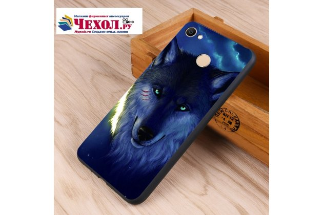 """Роскошная задняя панель-чехол-накладка  из мягкого силикона с безумно красивым расписным 3d рисунком на xiaomi redmi note 5a """"тематика волк"""""""