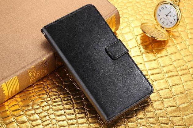 Чехол-книжка из качественной импортной кожи с мульти-подставкой застёжкой и визитницей для zte blade a510 черный