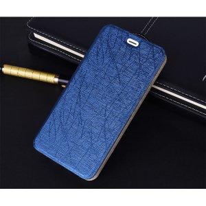 Фирменный чехол-книжка водоотталкивающий с мульти-подставкой на жёсткой металлической основе для ZTE Blade A520 5.0 (BA520)  синий