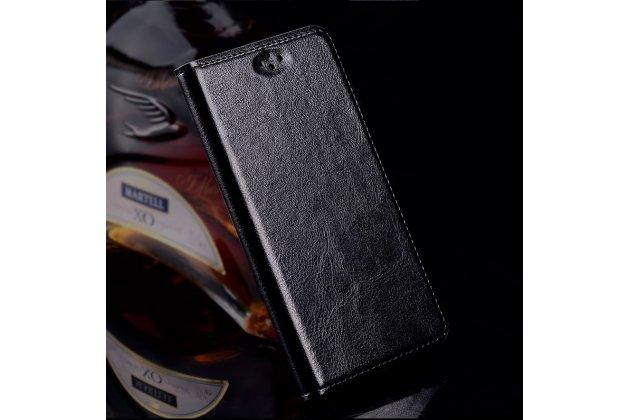 Премиальный элитный чехол-книжка из качественной импортной кожи с мульти-подставкой для zte blade v7 5.2 (bv0701) черный