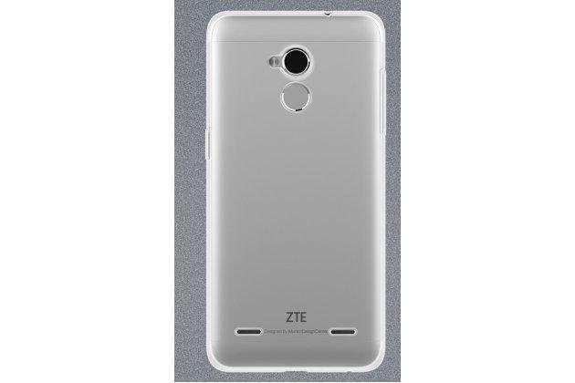 Ультра-тонкая полимерная из мягкого качественного силикона задняя панель-чехол-накладка для zte blade v7 lite (bv0720)/ blade a2 прозрачная