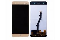 Lcd-жк-сенсорный дисплей-экран-стекло в сборе с тачскрином на телефон zte blade v7 lite (bv0720) золотой + гарантия