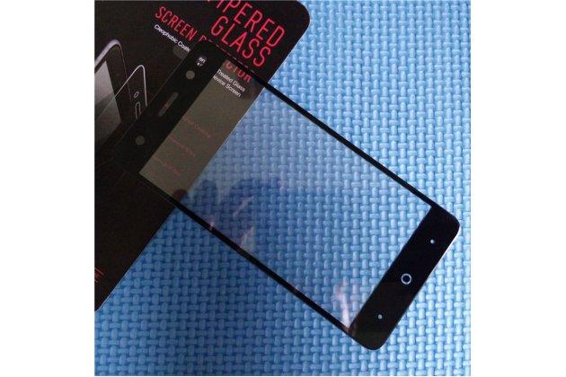 3d защитное изогнутое стекло с закругленными изогнутыми краями которое полностью закрывает экран / дисплей по краям с олеофобным покрытием для zte blade v7 lite (bv0720)/ blade a2