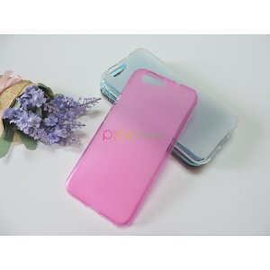 Ультра-тонкая полимерная из мягкого качественного силикона задняя панель-чехол-накладка для zte blade z10 5.2 розовая