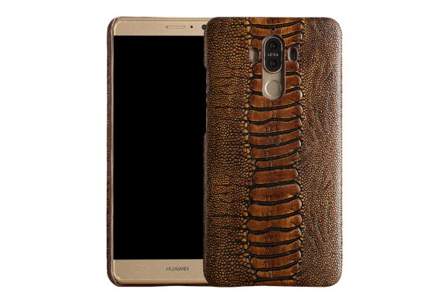 Роскошная эксклюзивная накладка с объёмным 3d изображением рельефа кожи крокодила коричневая для zte nubia n1. только в нашем магазине. количество ограничено