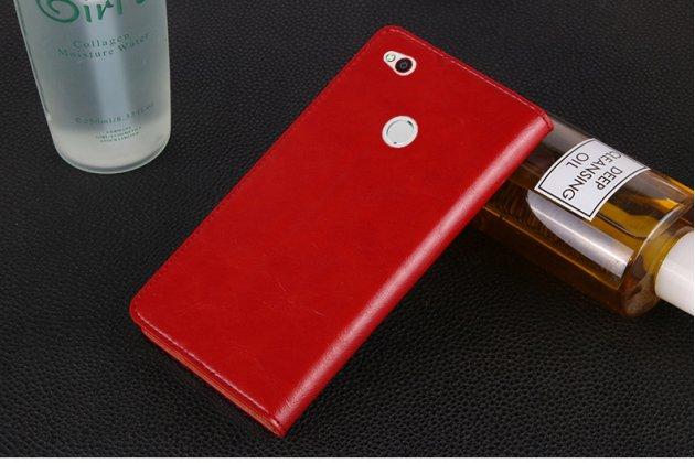 Премиальный чехол бизнес класса для zte nubia n1 из качественной импортной кожи красный