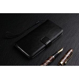 Фирменный премиальный  чехол-книжка из качественной импортной кожи с подставкой застёжкой и визитницей для ZTE Nubia N1 черный
