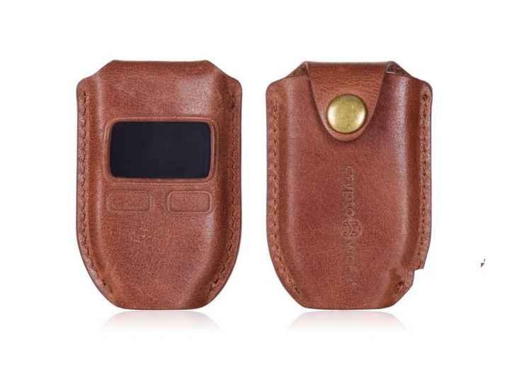Чехол-сумка-кожух-кобура из качественной импортной кожи для trezor wallet..
