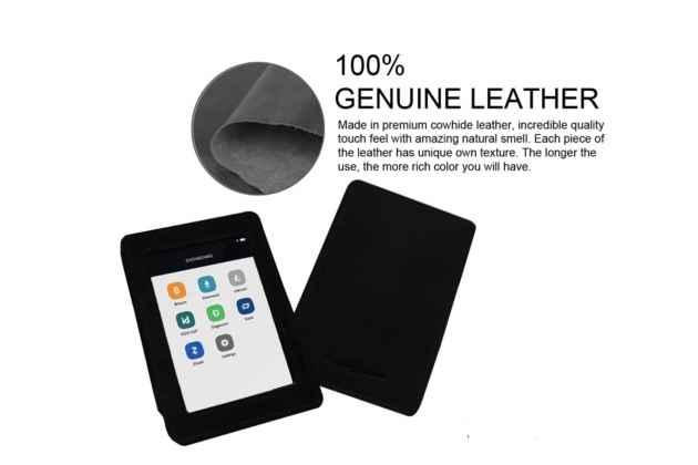 Чехол-сумка-кожух-кобура из качественной импортной кожи для ledger blue