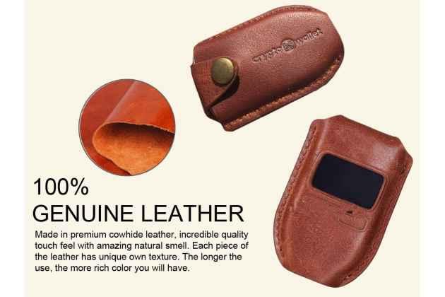 Чехол-сумка-кожух-кобура из качественной импортной кожи для trezor wallet