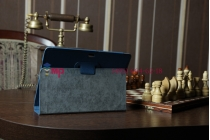 Чехол для asus transformer pad tf300/tf300tg/tf300tl синий кожаный