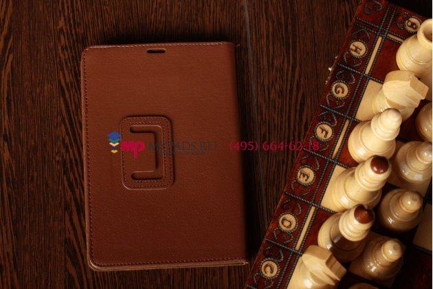 Чехол-обложка для acer iconia tab a110/a111 коричневый кожаный