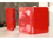 Чехол-обложка для Acer Iconia Tab A110/A111 лаковый с блестками красный..
