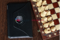 Чехол для acer iconia tab a210/a211 поворотный роторный оборотный черный кожаный