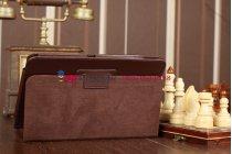 Чехол-обложка для acer iconia tab a210/a211 коричневый кожаный