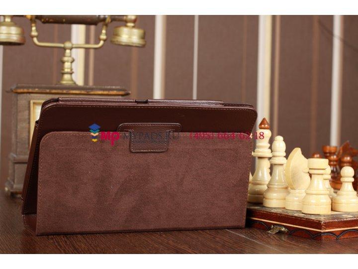 Чехол-обложка для acer iconia tab a210/a211 коричневый кожаный..