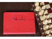 Фирменный чехол-обложка для Acer Iconia Tab A210/A211 красный кожаный..
