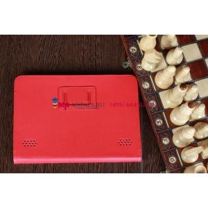 Чехол-обложка для acer iconia tab a210/a211 красный кожаный