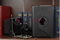 Чехол для acer iconia tab a200/a201 поворотный черный кожаный