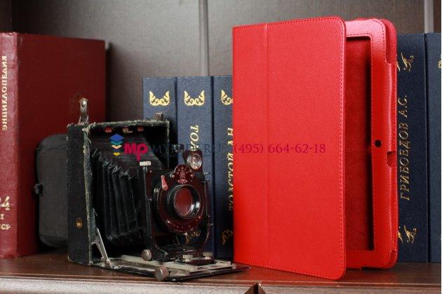 Чехол-обложка для acer iconia tab a200/a201 красный кожаный